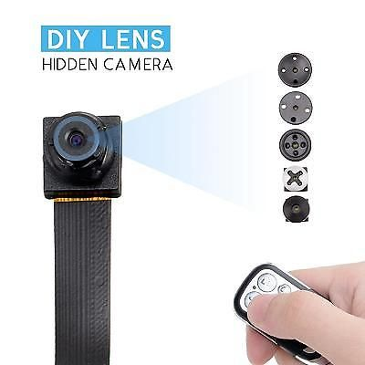 Hidden Spy Camera HD 1080/720P Mini Nanny Pinhole Portable Security Recorder Cam