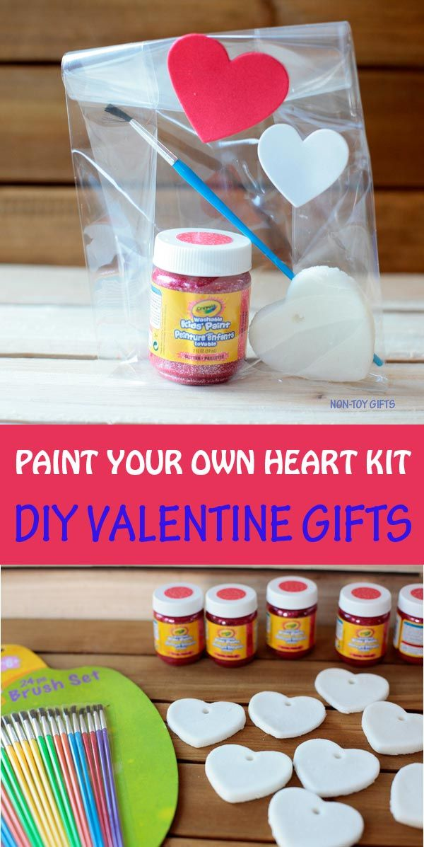 Paint Your Own Heart Kit   DIY Valentine Gifts For Kids To Make For The  Classroom. A Great Non Candy Option For Teachers And Parents To Give The  Classroom!