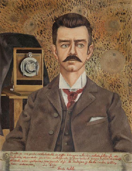 "Frida Kahlo, 1952, ""Portrait of my Father Wilhelm Kahlo."""