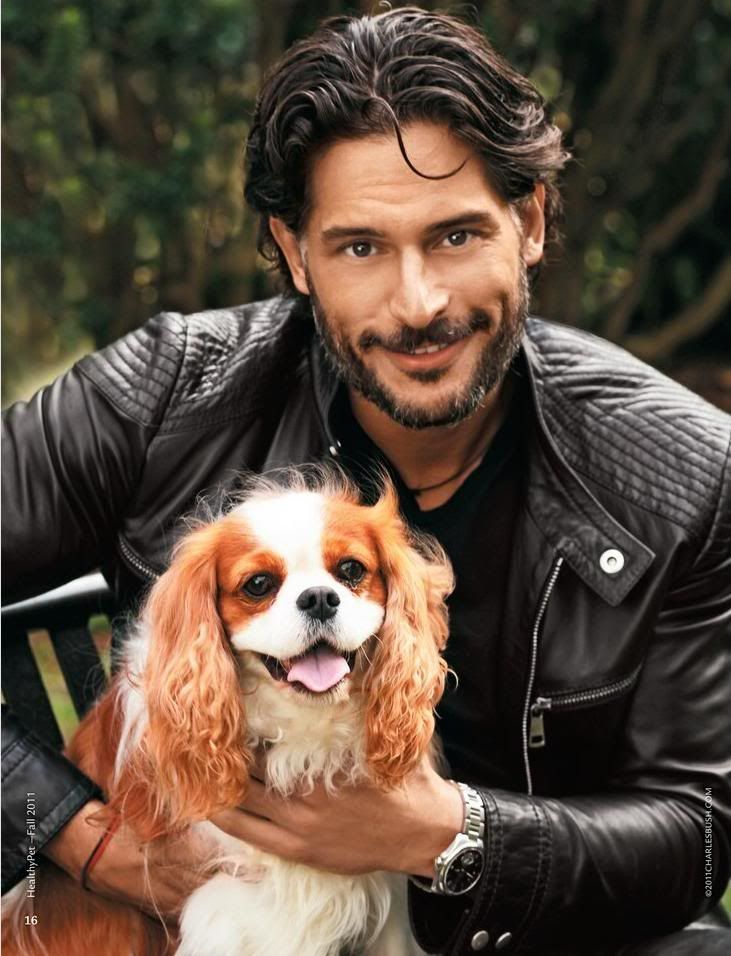 Joe Manganiello  his Cavalier King Charles   #TrueBlood