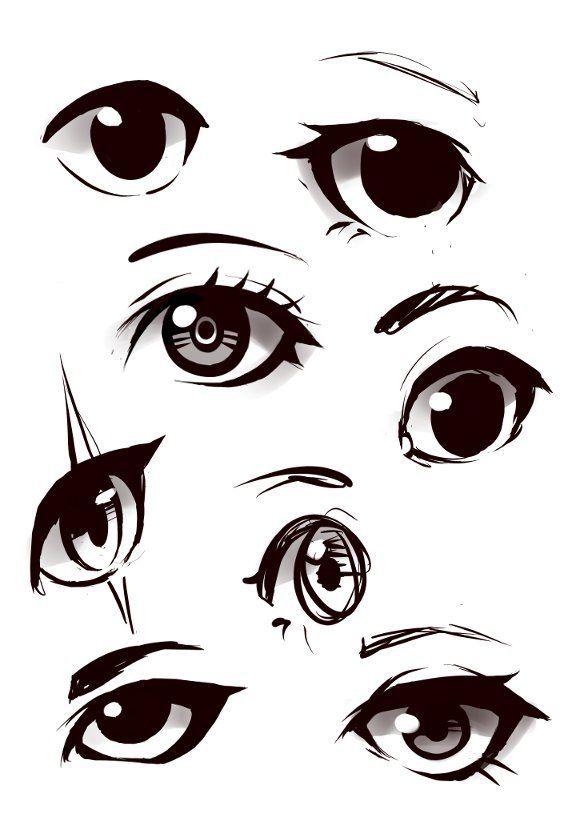 Eyes Practice Anime Eye Drawing Eye Drawing Anime Drawings Tutorials