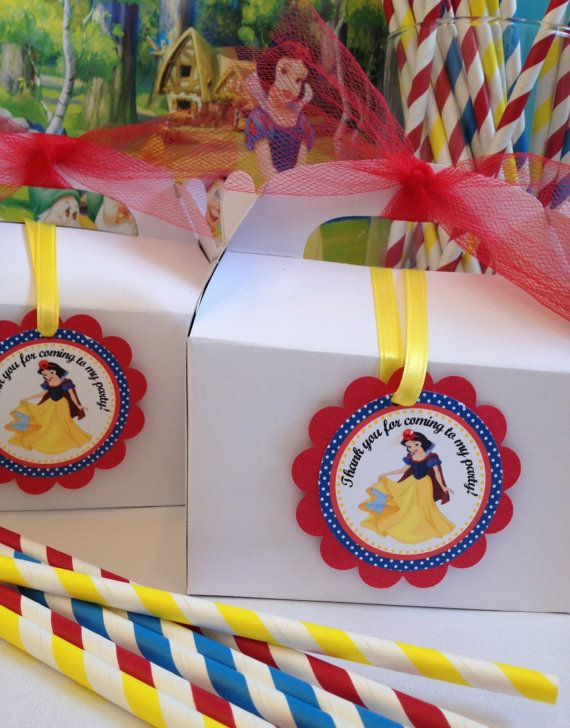 Snow White Party Tags  12 ready to ship by karlaspartycreations, $6.75