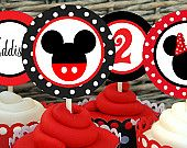 Mickey Mouse Printable Cupcake Toppers- CLASSIC