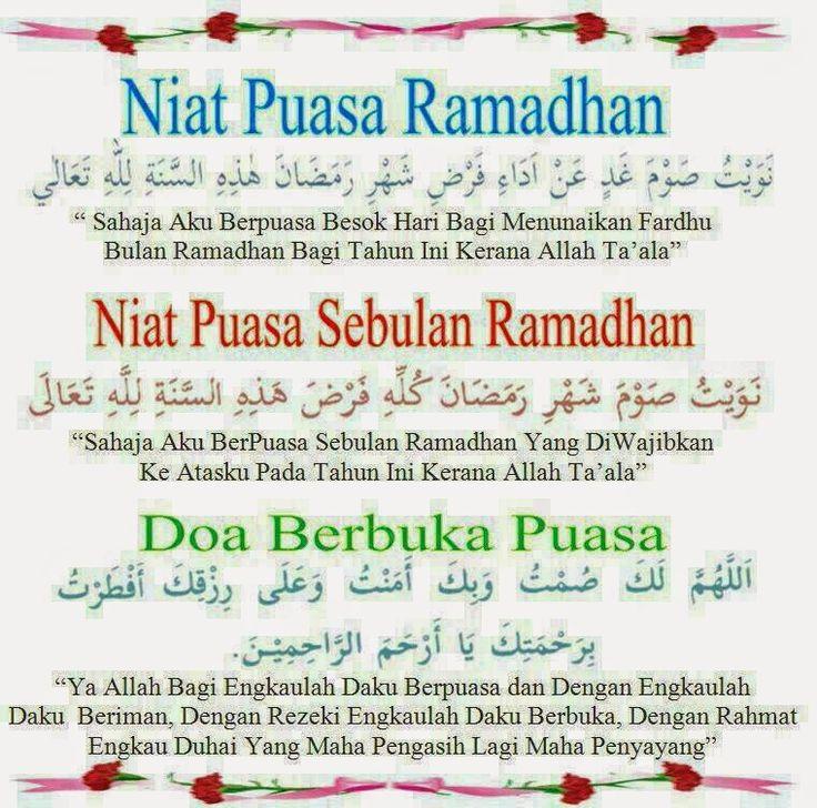 Marhaban Ya Ramadhan... Niat Puasa dan Doa Berbuka Puasa
