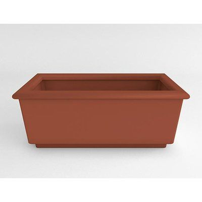 TerraCastProducts Roma Resin Planter Box Color: Mexican Chili
