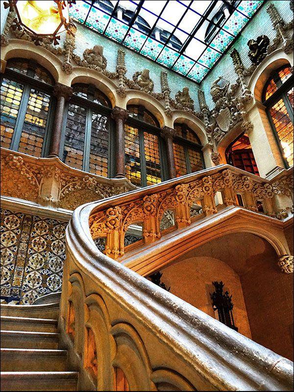 Casa Asia ,Palau del Baró de Quadras ( by Puig i Cadafalch early 1900. )Modernist House,Barcelona , Catalonia