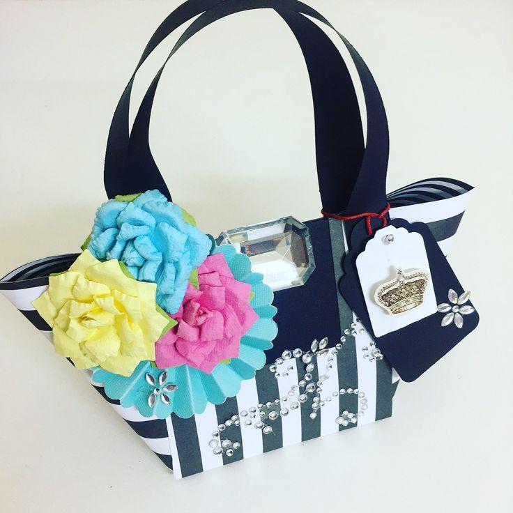 bolsa -  papéis linha básica - flores artesanais-tag e adesivos