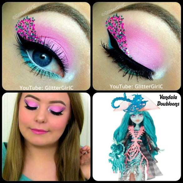Monster High Vandala Doubloons makeup. Youtube channel: full.sc/SK3bIA