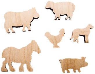 Hand cut wooden farm animals featuring Cow, Sheep, Pig, Chicken, Horse and Dog. #Educational #Business #familybusiness #Family #wooden #British #Handmade #Children #gifts #toys #Christmas #jigsaw #puzzles #plywood #animals #wildlife #children #parenting #parents #childhood