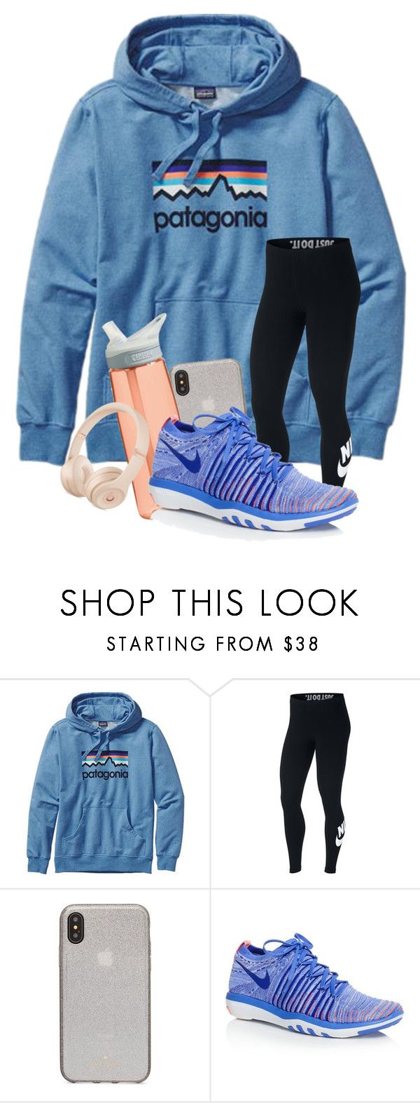 """QOTD : What is your favorite holiday?"" by meinersk45195 ❤ liked on Polyvore featuring Patagonia, NIKE, Kate Spade and CamelBak"