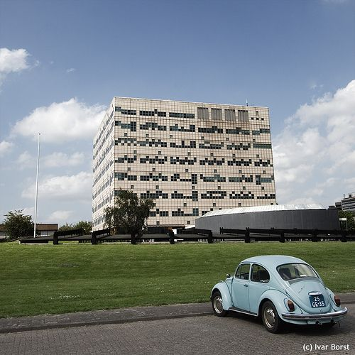 University building de Ponskaart (punch card) at De Uithof, Utrecht. Built in 1974. Will soon be gone (2014).