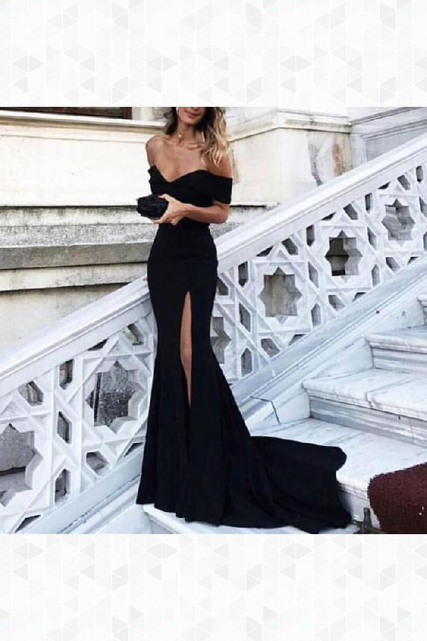 Cheap Appealing Evening Dress 2019, Prom Dresses Mermaid, Evening Dress Black, Black Mermaid Prom Dresses