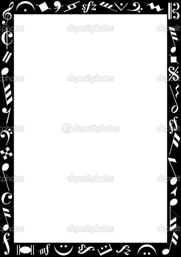 Resultado de imagem para bordas pretas e brancas para escrever