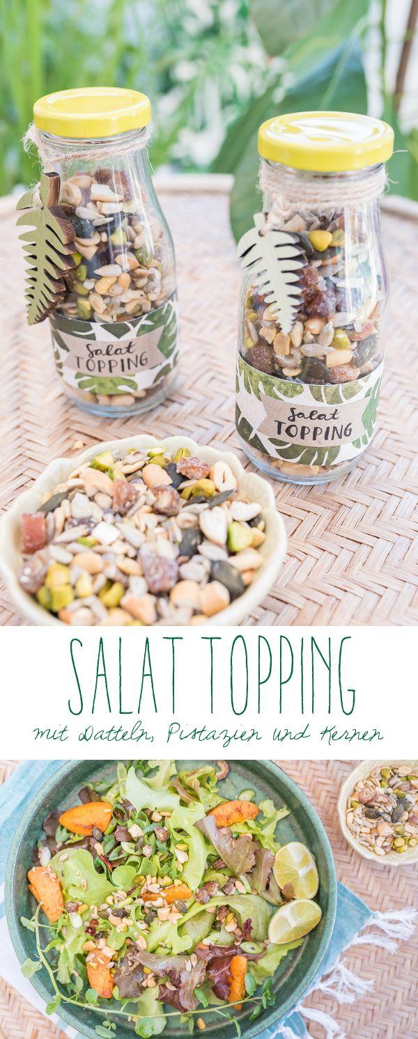 Rezept für ein leckeres Salat Topping mit Datteln, Pistazien, Cashews und Kernen als Mitbringsel zur Grillparty // leelahloves.de