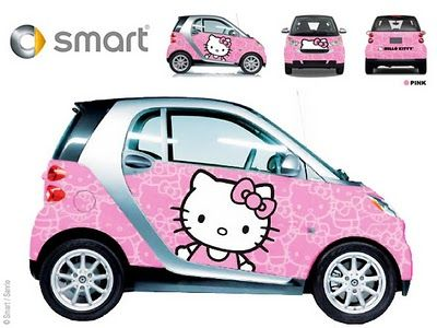 128 best automobile smart images on pinterest for Housse de voiture hello kitty