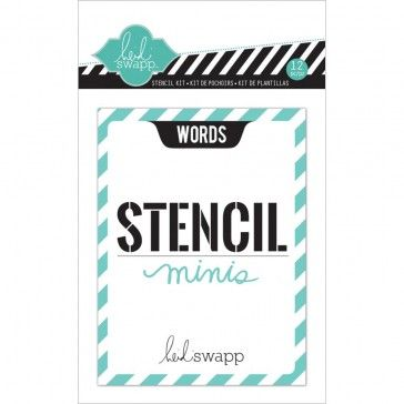8,30 Heidi Swapp 3X4 Mini Stencil Kit Words
