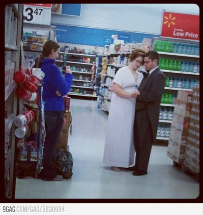 Where did you take your wedding photos? Walmart.