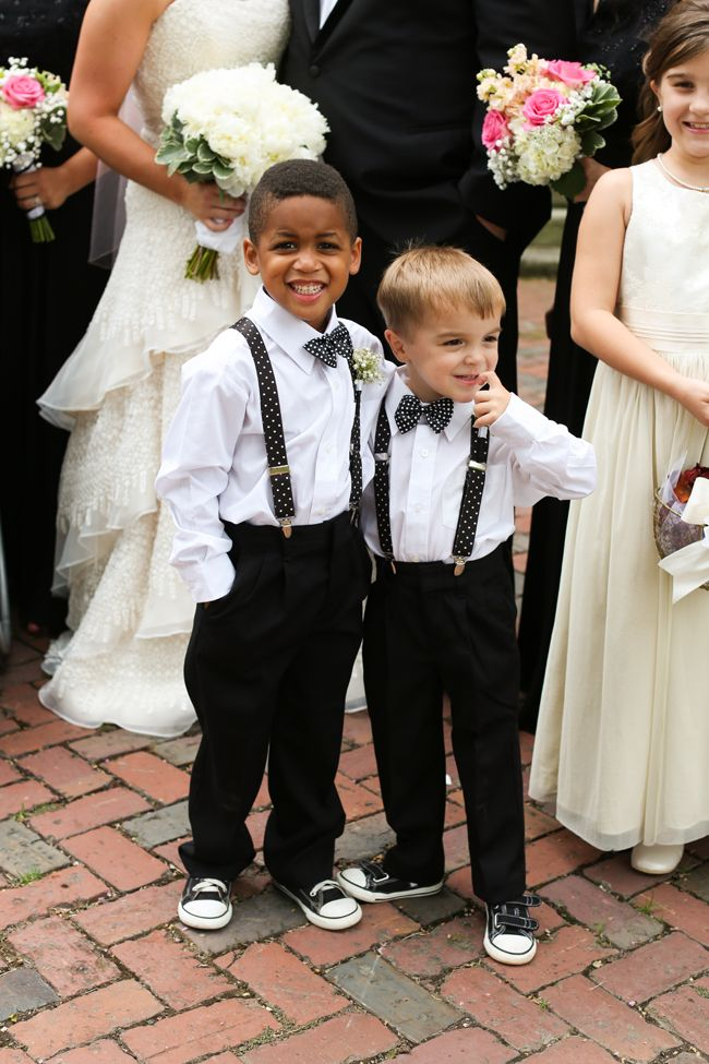 Timeless Gold and Black Wedding; page boys; ringbearers