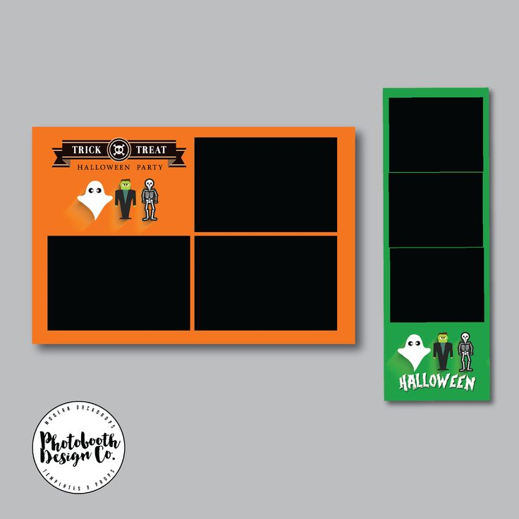 Downloadable halloween photobooth templates