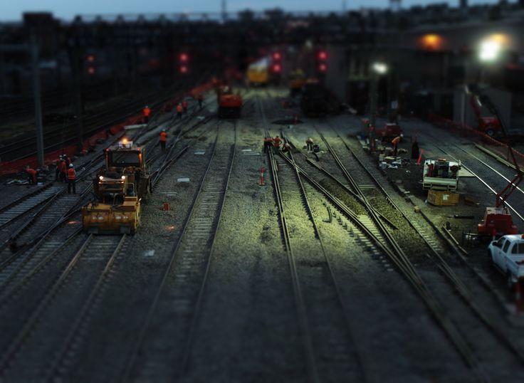 Trackwork near Southern Cross Station.