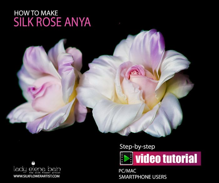 """Hello and welcome to The Silk Flower Artist 's latest 'How to make' video tutorial 'SILK ROSE ANYA'! In my video tutorial you will learn every step that is required to produce the stunning silk rose """"ANYA""""."""