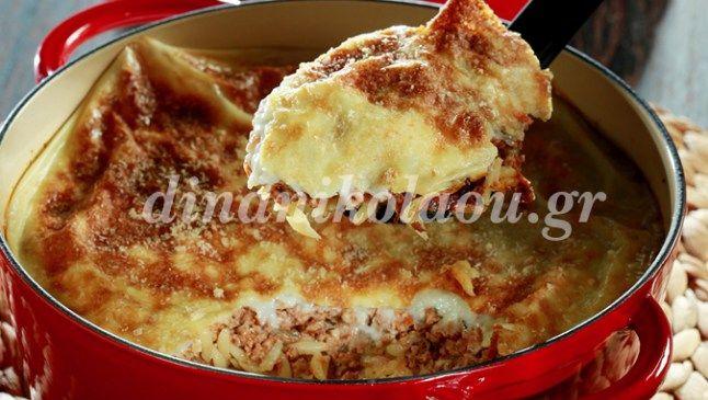40΄ 30΄ 4μερίδες –  Το παραδοσιακό παστίτσιο χωρίς την κλασσική μπεσαμέλ και με άρωμα δυόσμου. Υλικά Εκτέλεση 100 ml ελαιόλαδο 2 ξερά κρεμμύδια, κομμένα σε ψιλά καρέ 2 σκελίδες σκόρδου…