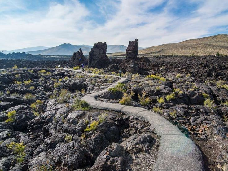 "Craters of the Moon National Monument and Preserve, Idaho:    ""Roughly the size of Rhode Island, the miles of black lava and the remote location gives Craters a wonderful night sky that attracts amateur astronomers to view the heavens."""