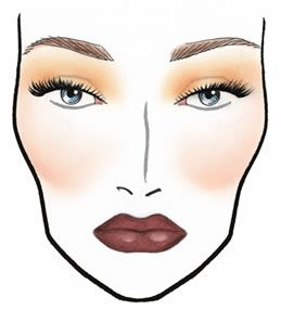 17 best images about face chart on pinterest mia farrow smokey eye and sugar skull face. Black Bedroom Furniture Sets. Home Design Ideas