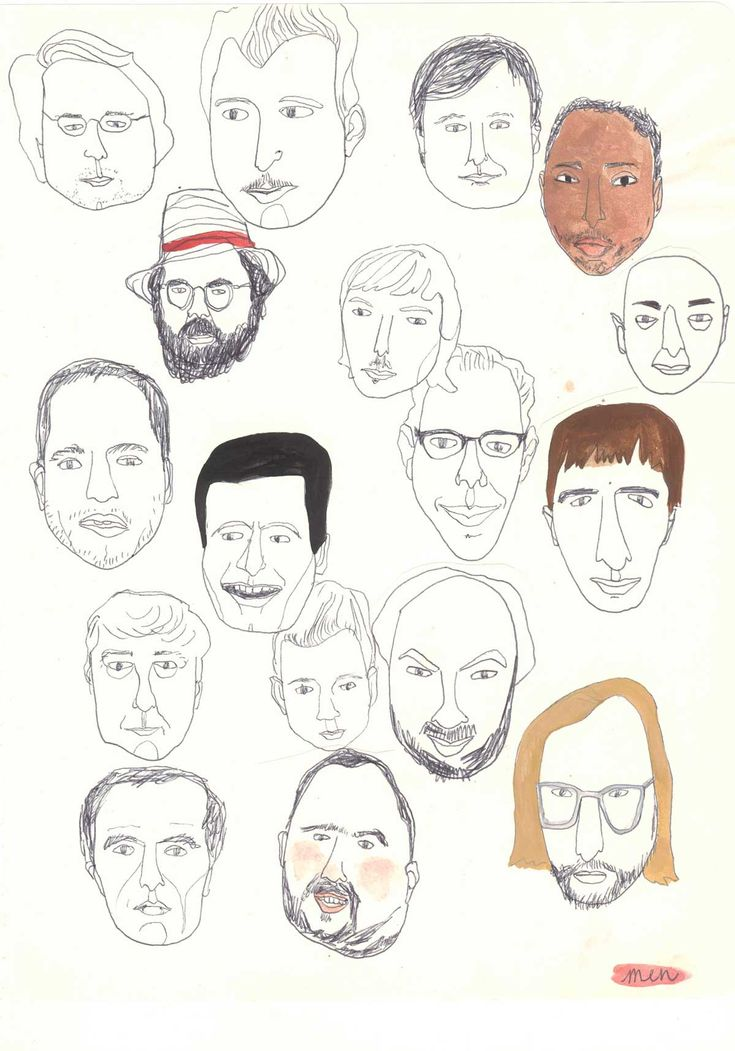 sketches of men faces Kim Welling