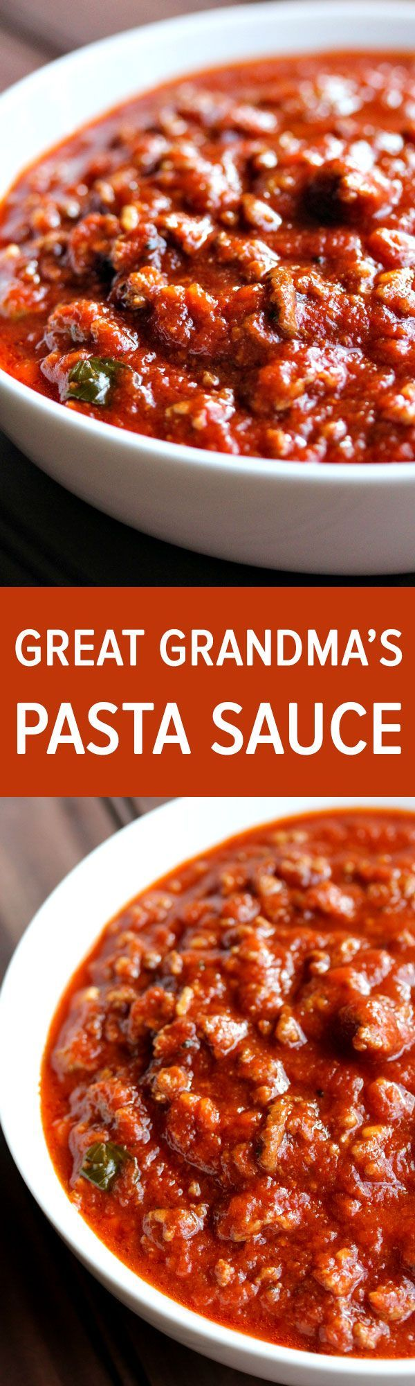 This pasta sauce is like liquid gold. It's the most delicious, rich, flavorful, pasta sauce I've ever had in my entire life. This pasta sauce was actually from Jason's great grandmother who came over from Italy.