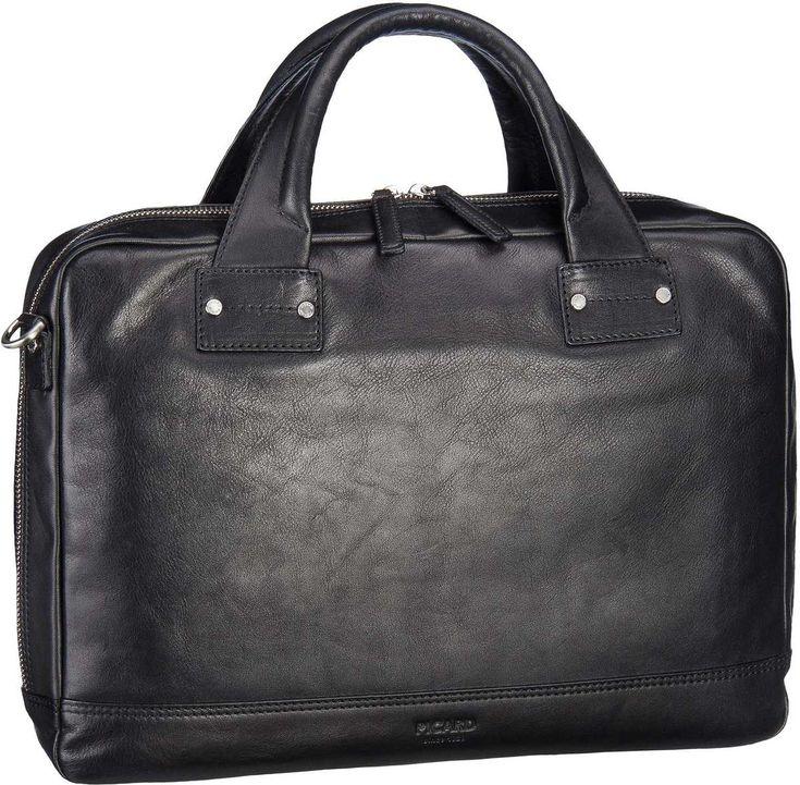 Taschenkaufhaus Picard Do It Business Bag Schwarz (innen: Grau) - Aktenmappe: Category: Taschen & Koffer > Aktenmappen > Picard…%#Taschen%