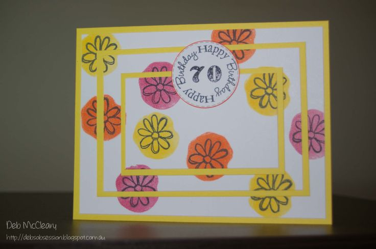 Triple Time Stamping - 70th Birthday