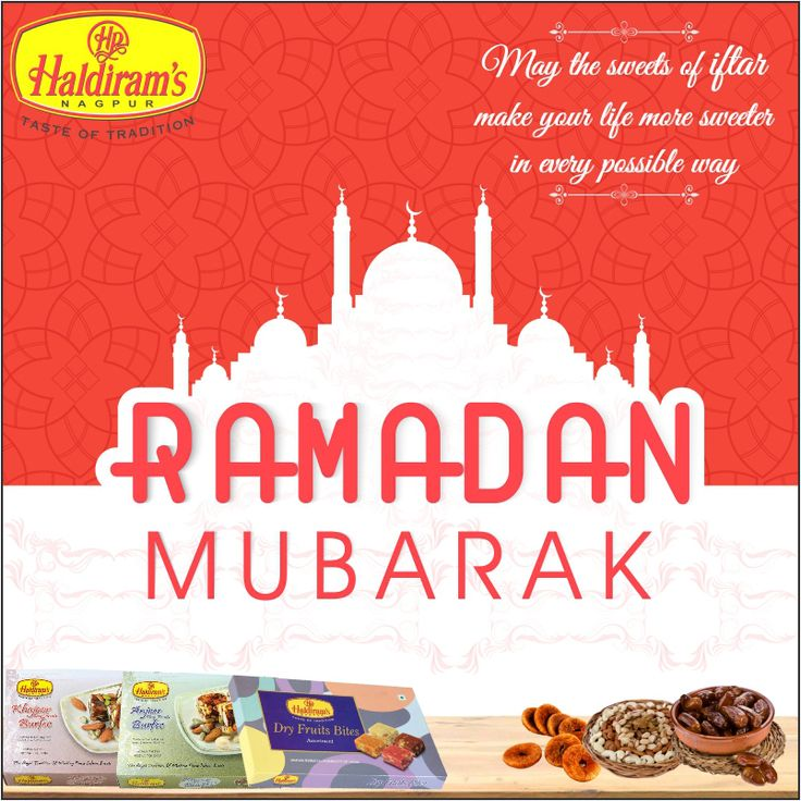 Haldirams Nagpur Wishes You Happy Ramadan Month.. Enjoy with #Dryfruitsbite #AnjeerBurfi