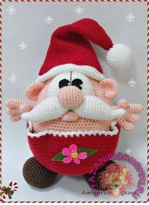 Funny knitted Santa Claus Author: Askina Translation description: yolito - Toys hook