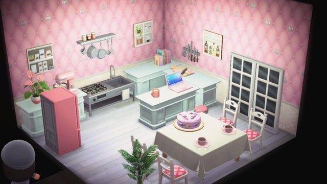 Non Ironwood Kitchen Animalcrossing Pink Kitchen Ironwood Animal Crossing