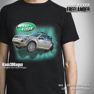 Kaos LAND ROVER Freelander, Kaos3D, Land Rover Indonesia, Kaos OFFROAD, https://instagram.com/kaos3dbagus, WA : 08222 128 3456, LINE : Kaos3DBagus