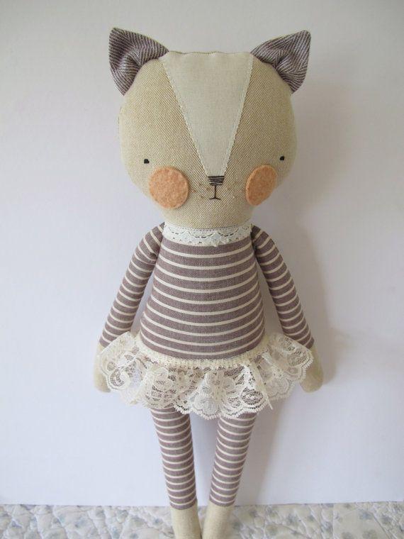 Pretty much in love luckyjuju kitty girl  cat lovie  doll by luckyjuju on Etsy, $65.00