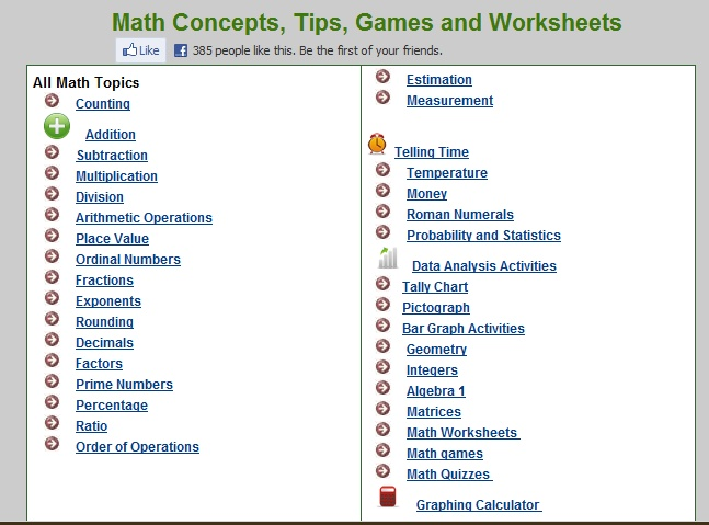 Cool Softschools Math Games Images - Printable Math Worksheets ...