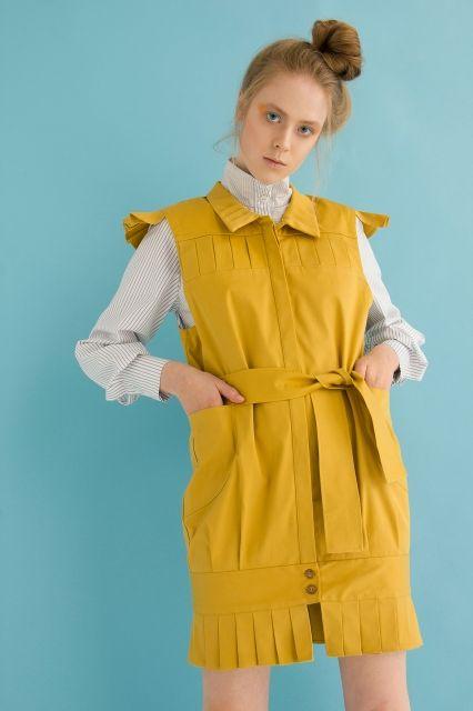 Mustard vest MoMi-Ko SS17
