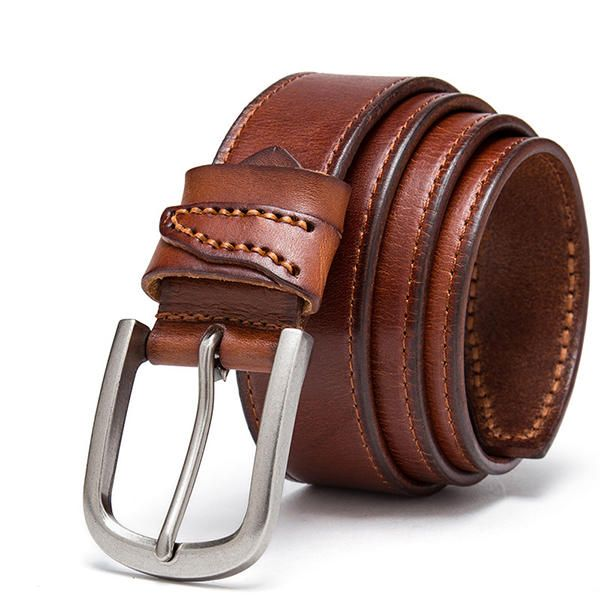 US 38.00  120CM Mens Business Leather Belt Casual Alloy Pin Buckle Jeans  Waistband   a56ae18daa5