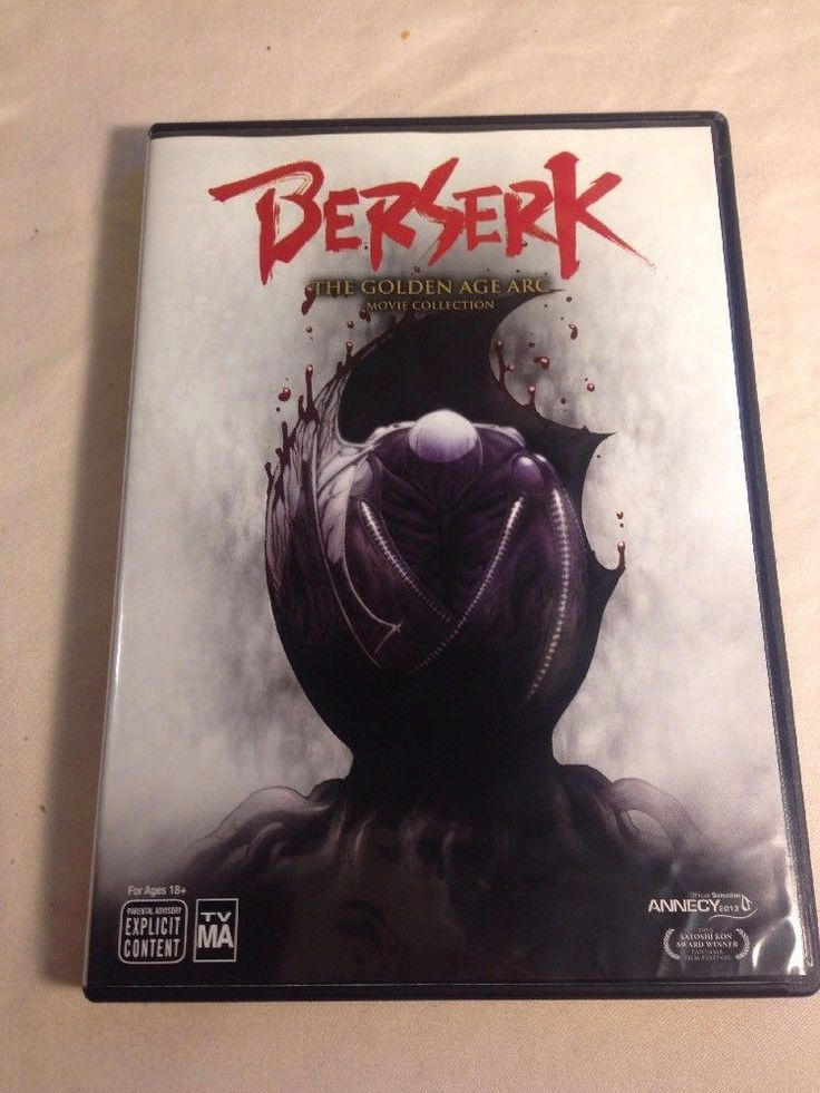 Berserk: The Golden Age Arc Movie Collection - 3 DISC SET (2016, DVD)