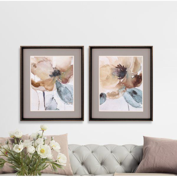 You Ll Love The Poppy 2 Piece Framed Painting Print Set At Birch Lane With Great Deals On All Products A Painting Frames Rustic Wall Art Traditional Wall Art