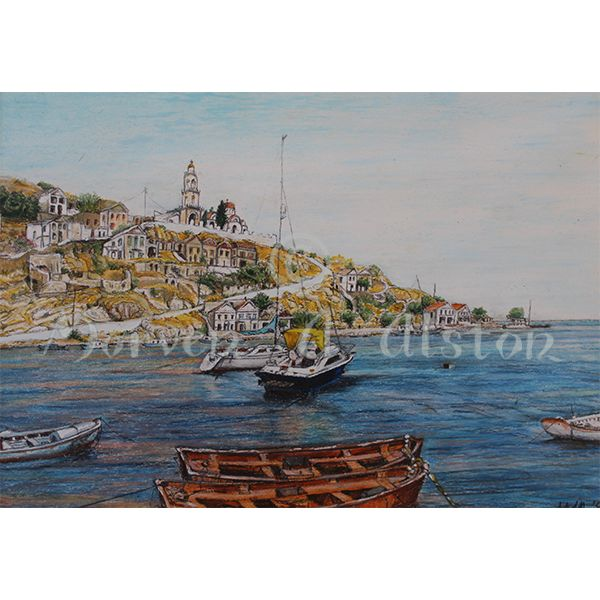 My Treasure Island by Morven A. Alston. Artwork created in: Simi, Greece