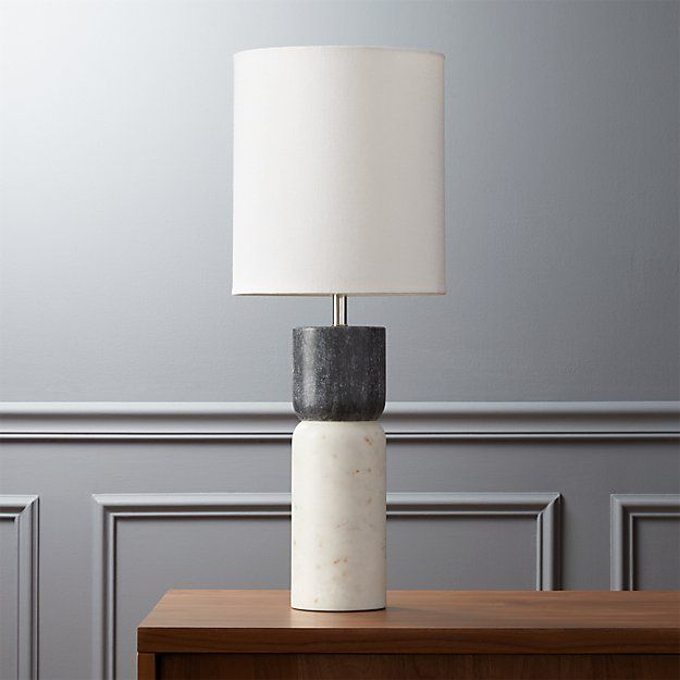 CB2 Stacked Marble Table Lamp