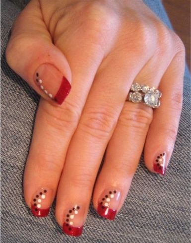 Red bling.: Photo, Nails Designs