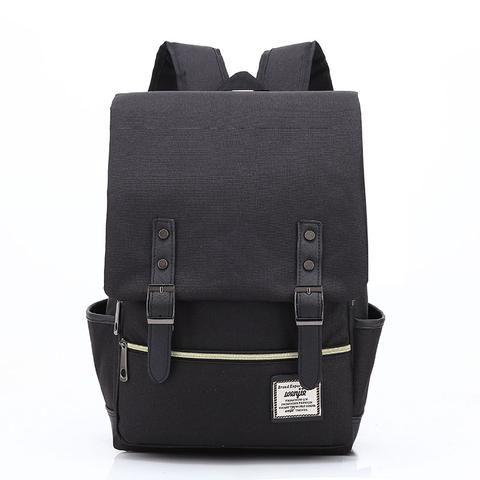7e6319a4bd7 Lasen bag 2018 Women Canvas Backpacks for Teenager Girls Men Casual Student  School Bag Fashion Travel Rucksacks for Laptop