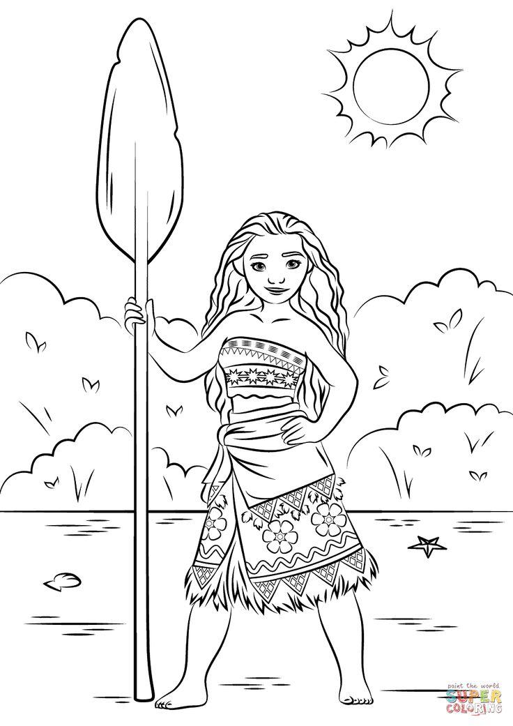 Princess Moana Super Coloring Moana Pinterest