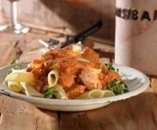 Rezept Penne mit Thunfisch-Bolognese (Sansibar-Kochbuch) von schnuerfel - Rezept der Kategorie Hauptgerichte mit Fisch & Meeresfrüchten