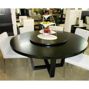 Revolve Round Dining Table The Is Finished In Wenge It Comes With A Lazy Susan But Its Underneath So You Can Remove If
