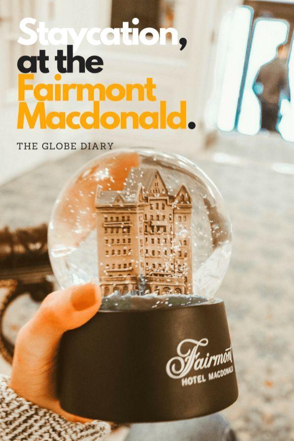 Staycation at the Fairmont Macdonald Edmonton, Alberta, Canada #ExploreEdmonton #YEG #Rivervalley Best views in the city!